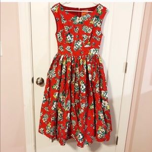 ModCloth beautiful swing dress, with petticoat!
